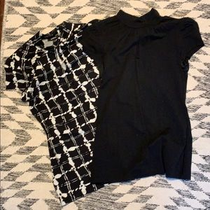 Two business casual short sleeve shirts